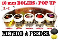 War Mini Boilies 10mm + Pop Up Boilies 50ml halibut