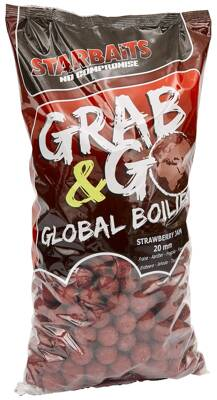 Global boilies STRAWBERRY JAM 20mm 2,5kg