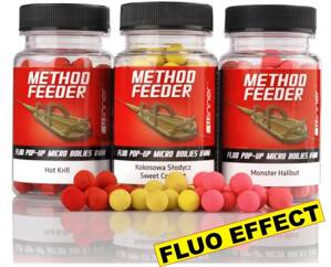 Method/Feeder - Fluo Pop Up Micro Boilies - 8mm/35g